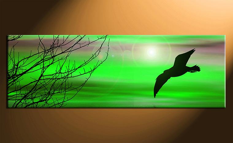 1 piece green wall decor bird canvas prints for Buy canvas prints online
