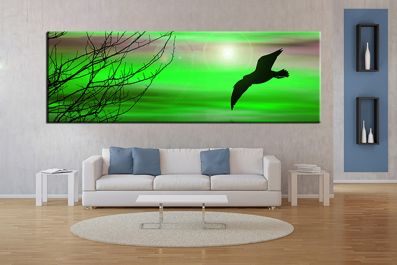 1 piece wall art wildlife art wildlife artwork green huge large pictures