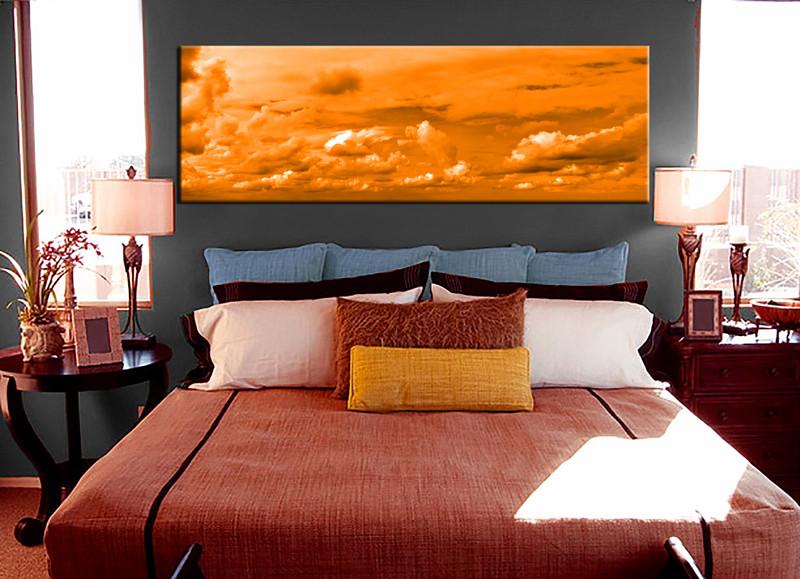 1 Piece Canvas Art Print, Bedroom Art, Abstract Multi Panel Art, Abstract  Huge