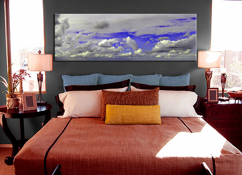 1 Piece Canvas Print, Bedroom Canvas Wall Art, Grey Pictures, Abstract  Canvas Photography