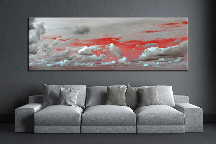 1 piece abstract grey canvas wall art - Oil painting ideas for living room ...