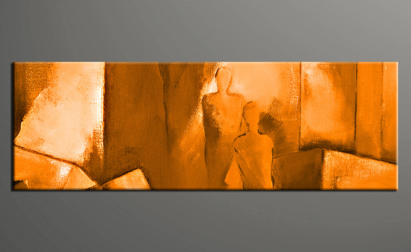 Large Abstract Wall Art 1 piece orange abstract canvas wall art