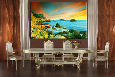 dining room art, 1 piece canvas art prints, blue ocean canvas photography, ocean canvas art prints, mountain huge pictures