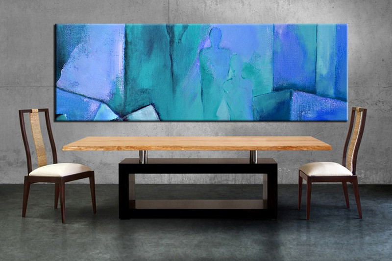 1 Piece Large Canvas, Dining Room Artwork, Abstract Canvas Wall Art,  Abstract Group