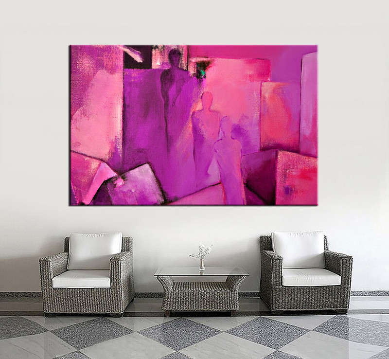 1 Piece Purple Abstract Canvas Photography