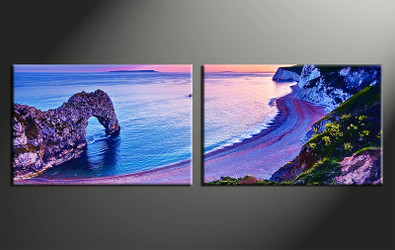 home decor, 2 piece canvas print, ocean wall art, blue ocean canvas photography, ocean huge pictures