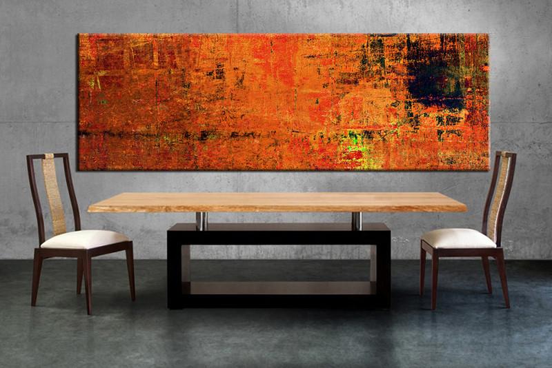 Orange Wall Decor 1 piece orange wall art abstract canvas print