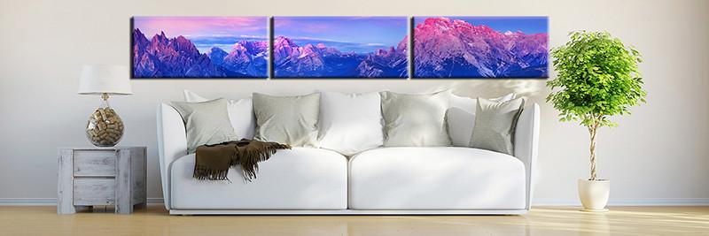 3 Piece Canvas Wall Art Living Room Huge Print Blue Landscape Photo