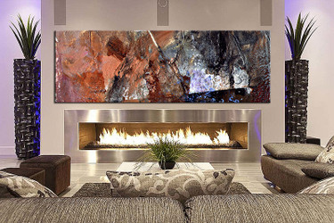 1 piece wall art, multi panel art, brown abstract large canvas, abstract huge pictures, living room photo canvas
