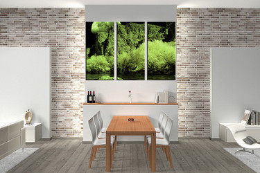 3 Piece Canvas Wall Art, Brown Huge Canvas Print, Tree Canvas ...
