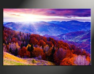 1 piece canvas photography, home decor art, landscape huge pictures, blue landscape wall decor