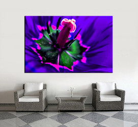 1 piece canvas wall art, living room huge canvas print, blue floral photo canvas, floral large pictures