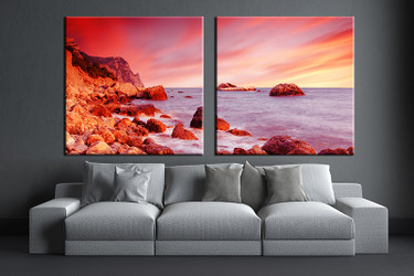 2 piece huge pictures, living room multi panel canvas, ocean canvas art prints, ocean artwork, ocean decor