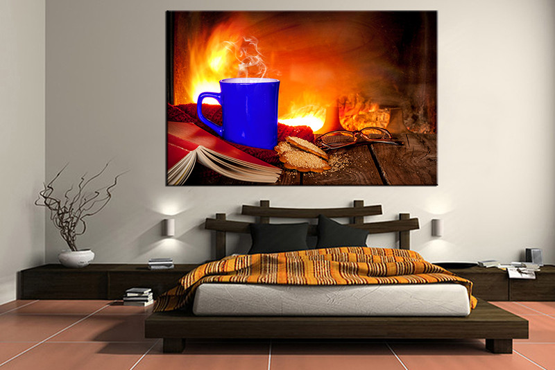 1 Piece Canvas Print, Bedroom Canvas Wall Art, Orange Pictures, Kitchen  Canvas Photography