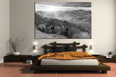 1 piece canvas art print, bedroom art, scenery multi panel art, landscape grey huge pictures