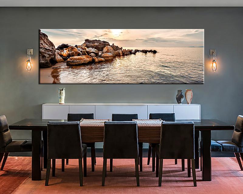 Dining Room Wall Decor 1 Piece Art Ocean Multi Panel