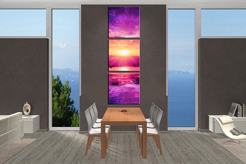 3 Piece Large Canvas Dining Room Wall Artocean Pictures Ocean Photography