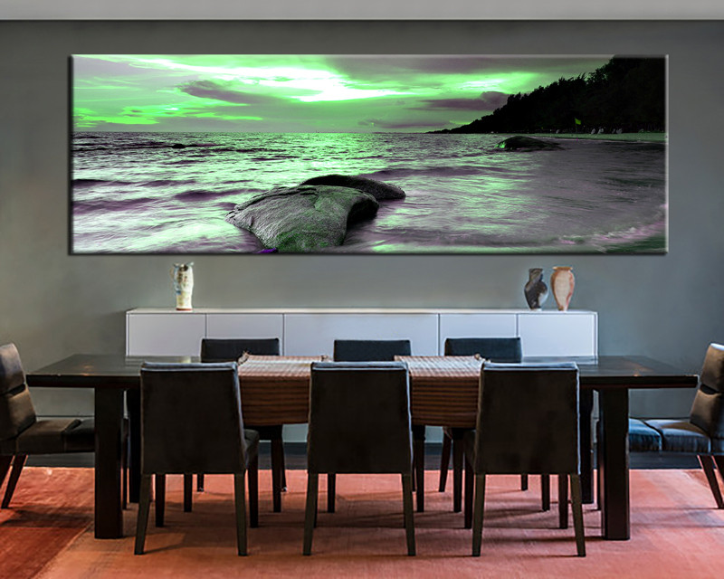 1 Piece Large Canvas Dining Room Artwork Ocean Wall Art Group