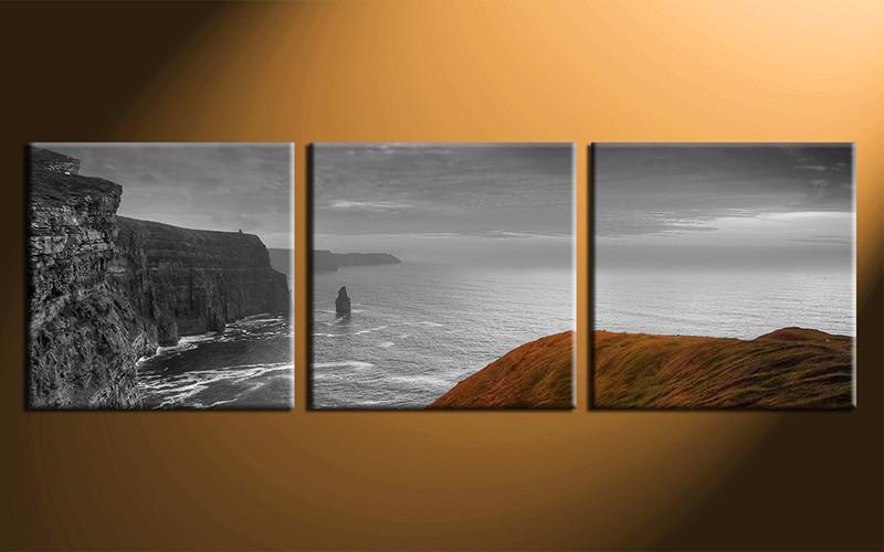 3 piece grey art ocean huge canvas print for Buy canvas prints online