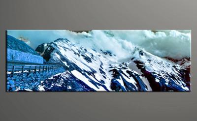 1 piece canvas wall art, blue landscape pictures, home decor, landscape wall art