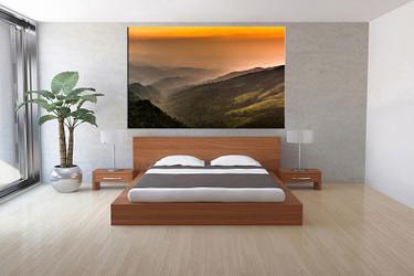 1 piece large pictures, living room wall art, orange landscape photo canvas, landscape artwork