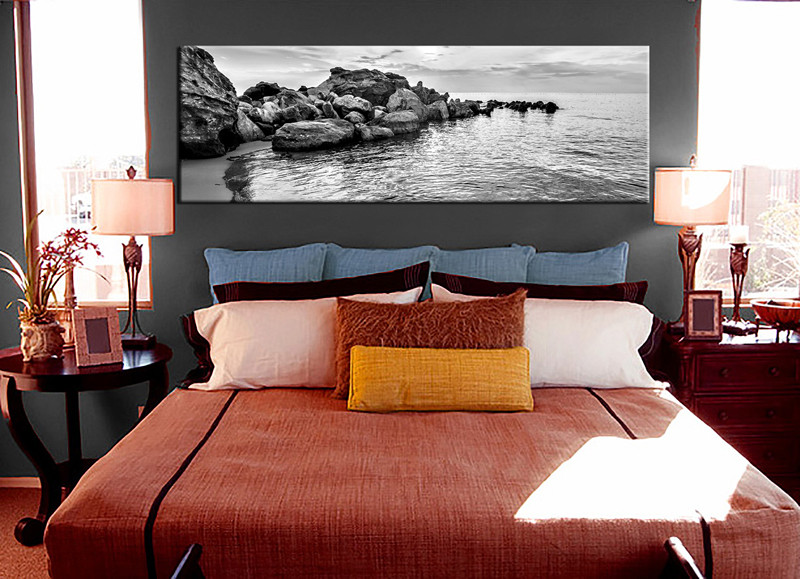 1 piece canvas art print bedroom wall art black and white canvas photography