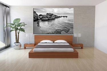 1 Piece Canvas Art Print, Bedroom Art, Black And White Multi Panel Art,