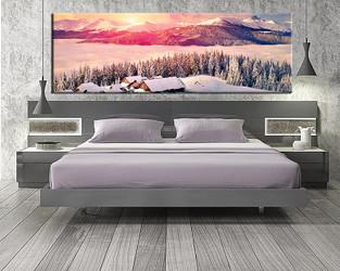 1 piece large pictures, landscape  art, bedroom multi panel art, white landscape photo canvas, landscape artwork