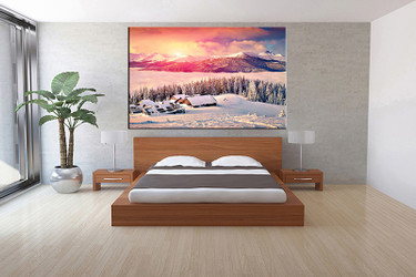 Ordinaire 1 Piece Canvas Wall Art, Bedroom Art Print, White Landscape Large Canvas,  Landscape