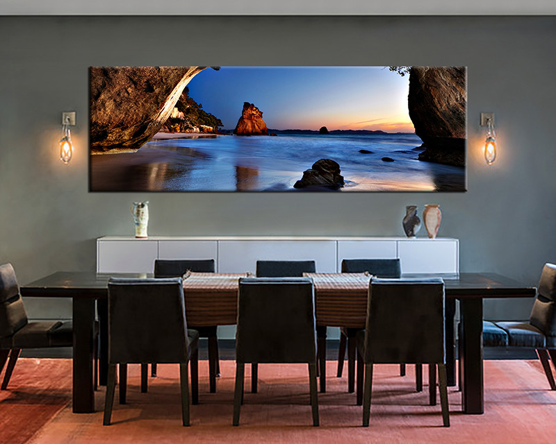 1 Piece Large Canvas, Dining Room Artwork, Ocean Blue Canvas Wall Art, Ocean