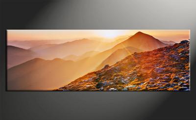 home decor art, 1 piece canvas art prints, orange landscape canvas print, landscape group canvas, landscape pictures