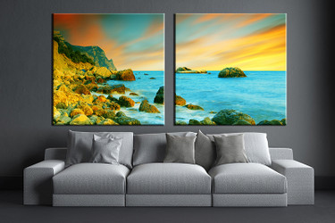 2 piece canvas photography, living room pictures ,ocean huge pictures, ocean wall art, ocean artwork, ocean canvas print