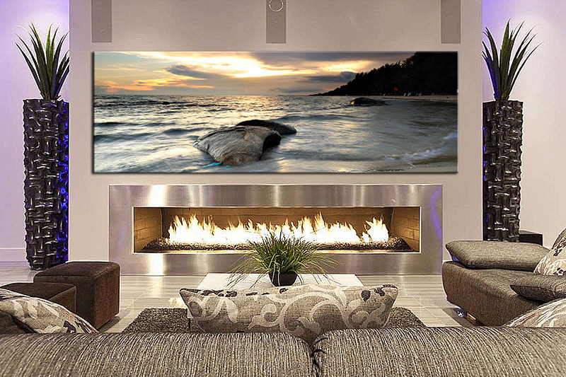 1 Piece Wall Art, Living Room Large Canvas, Ocean Huge Pictures, Ocean Multi