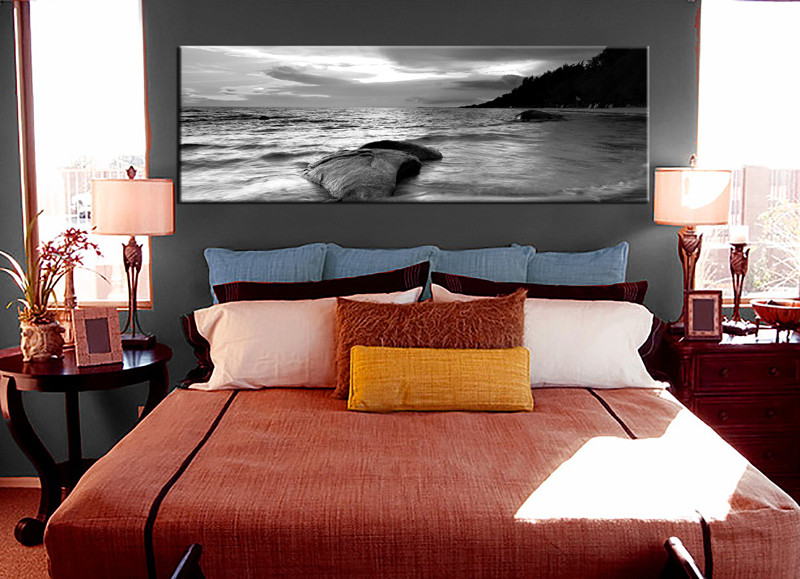 Bedroom Wall Art 1 Piece Multi Panel Black And White