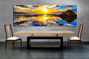 1 piece multi panel canvas, dining room canvas photography, ocean wall art, ocean artwork