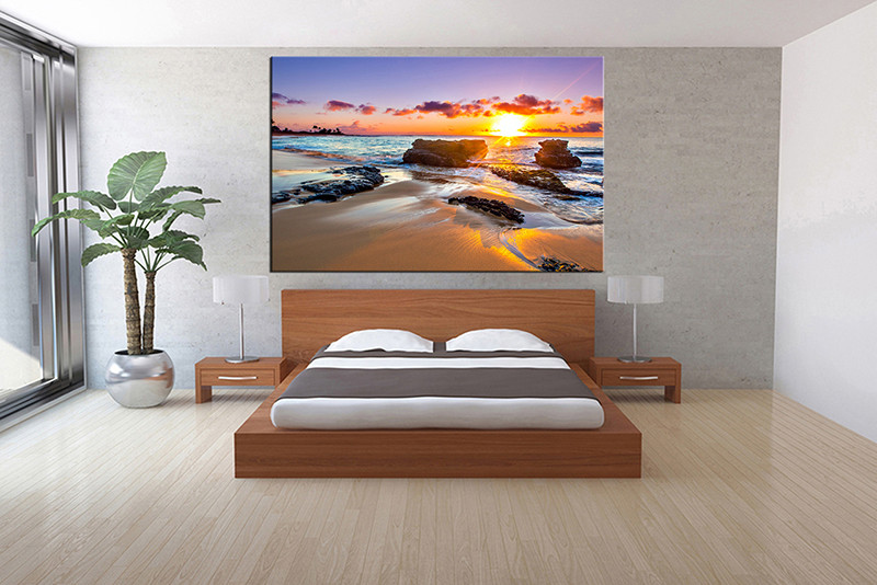 1 piece canvas print, bedroom canvas wall art, ocean pictures, ocean canvas  photography
