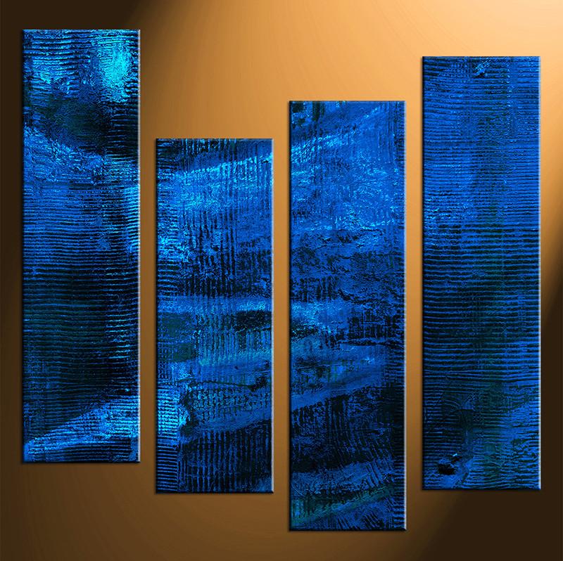 Blue Abstract Wall Art At Home