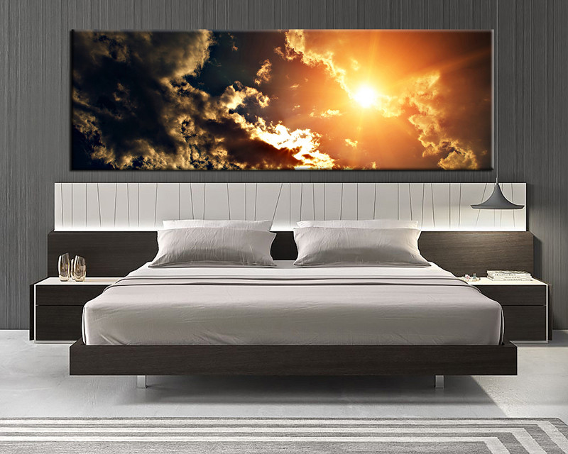 1 piece canvas print, bedroom canvas wall art, scenery pictures, scenery  yellow canvas
