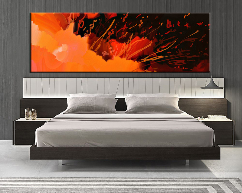 1 Piece Canvas Wall Art, Bedroom Abstract Artwork, Abstract Pictures,  Abstract Canvas Art