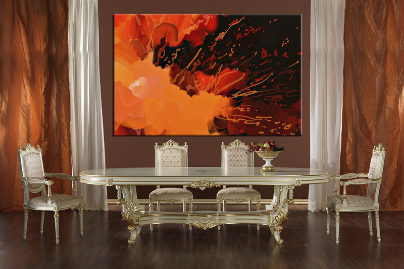 1 Piece Canvas Wall Abstract Art Dining Room Pictures Large