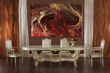 dining room wall art, 1 piece multi panel canvas, red abstract huge pictures, abstract artwork, abstract pictures