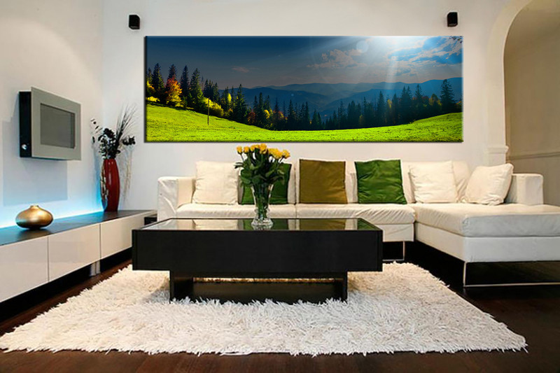 1 Piece Huge Pictures Living Room Wall Art Scenery Canvas Prints