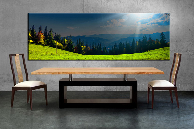 1 piece large canvas dining room canvas wall art scenery artwork scenery huge & 1 Piece Panoramic Blue Sky Scenery Sunrise Wall Art