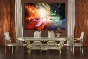 1 piece large canvas, dining room wall art, abstract pictures, colorful abstract canvas photography