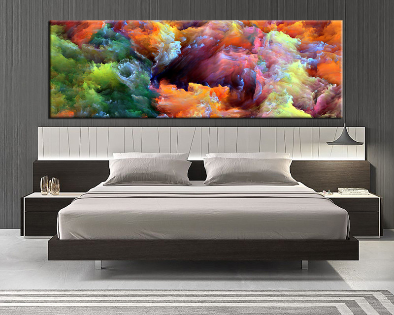 1 Piece Canvas Art Print, Bedroom Wall Art, Abstract Canvas Photography,  Colorful Abstract