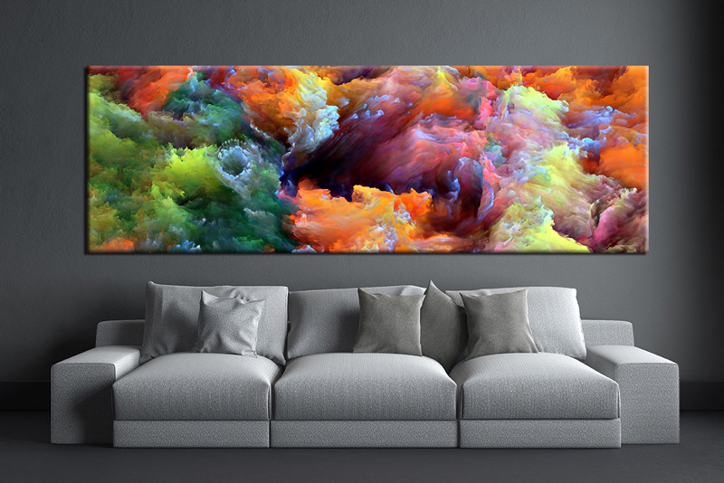 1 piece colorful artwork abstract photo canvas for Large colorful wall art