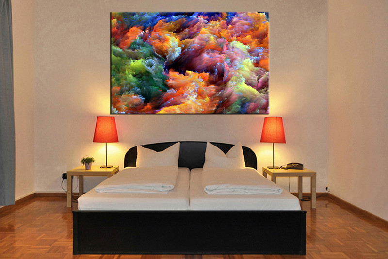 bedroom decor 1 piece wall art abstract colorful pictures abstract art abstract & 1 Piece Colorful Artwork Abstract Canvas Wall Art
