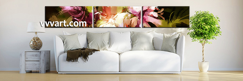 Floral Canvas Wall Art 3 piece colorful flower photo canvas oil paintings