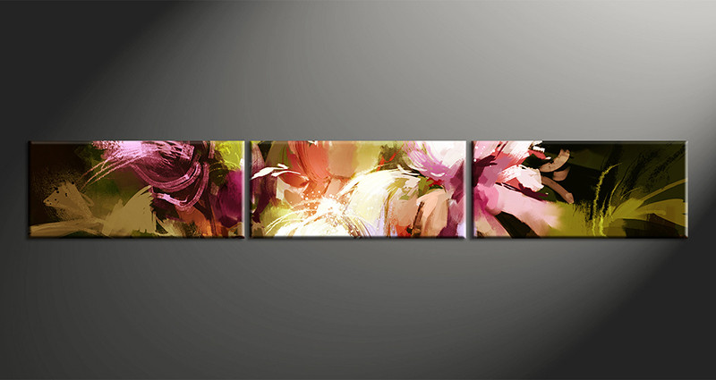 Flower Canvas Wall Art 3 piece colorful flower photo canvas oil paintings