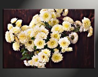 1 piece large canvas, home decor artwork, floral large pictures, white floral art